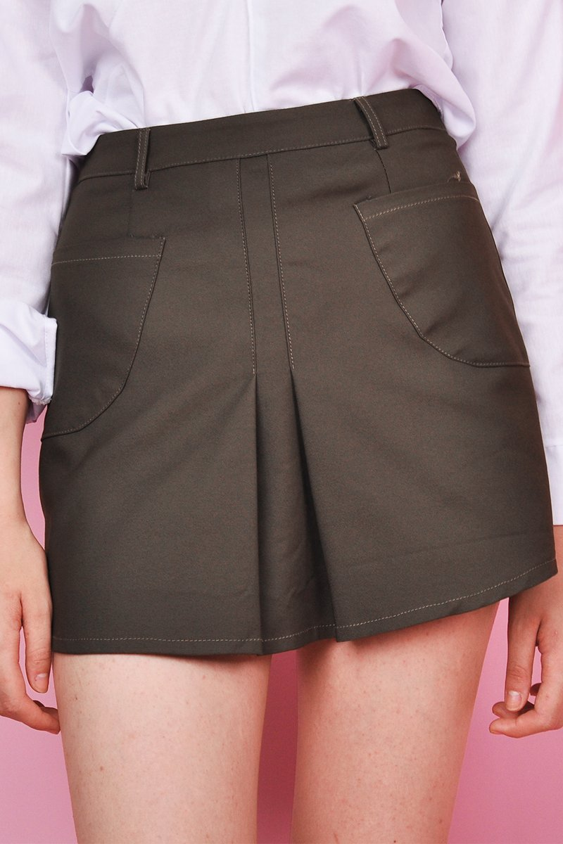 Stella Tailored Skirt Olive