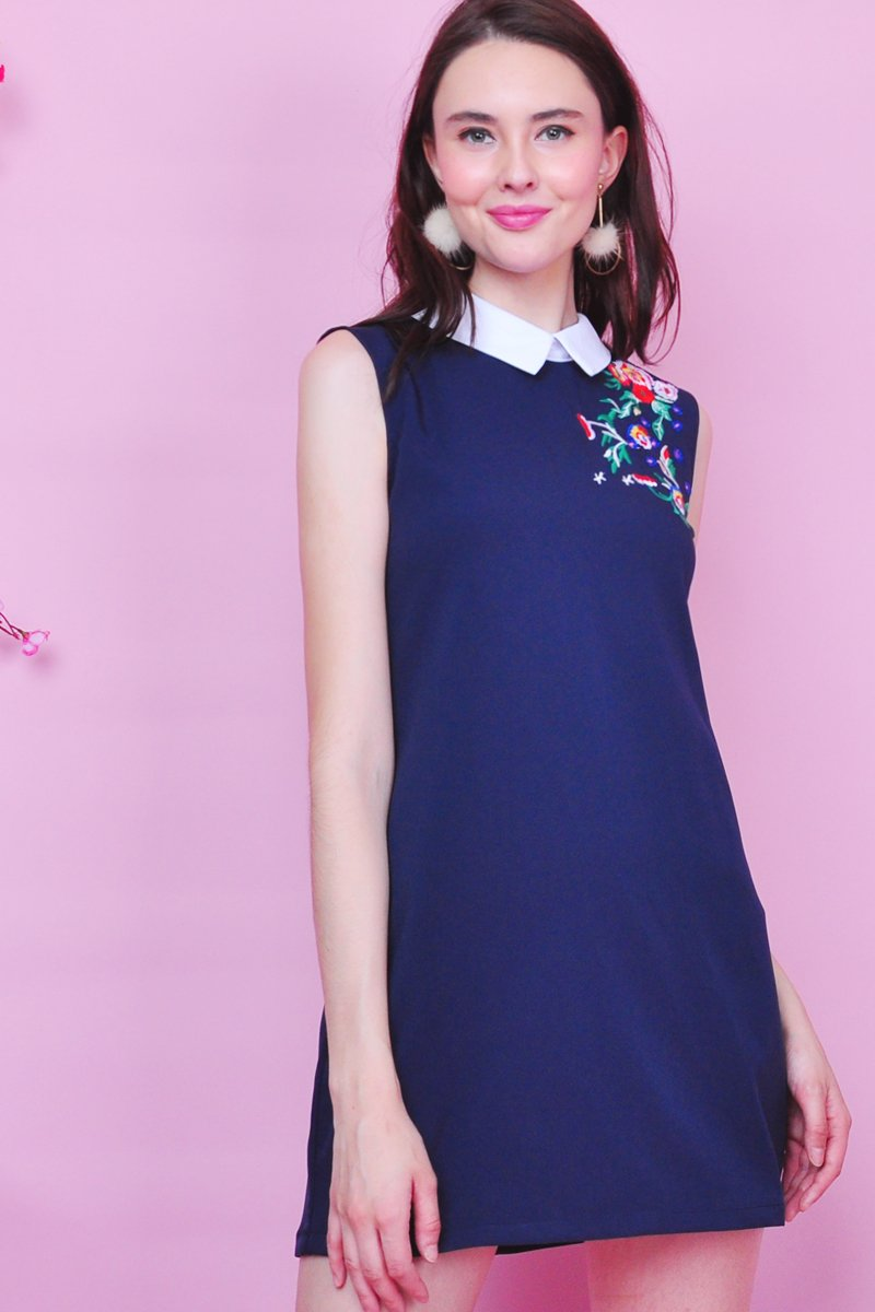 Oxley embroidery dress midnight purpur singapore