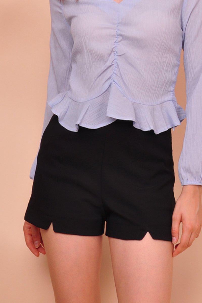 Nixie Cut-Out Shorts Black