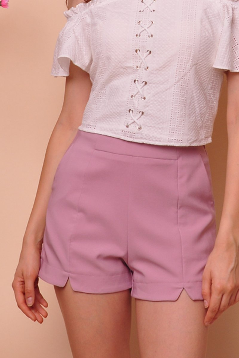 Nixie Cut-Out Shorts Blush