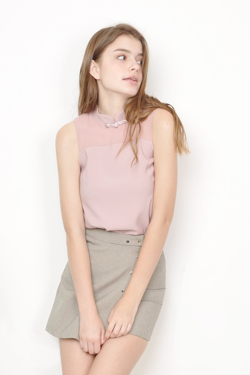 Willow High Neck Top Blush