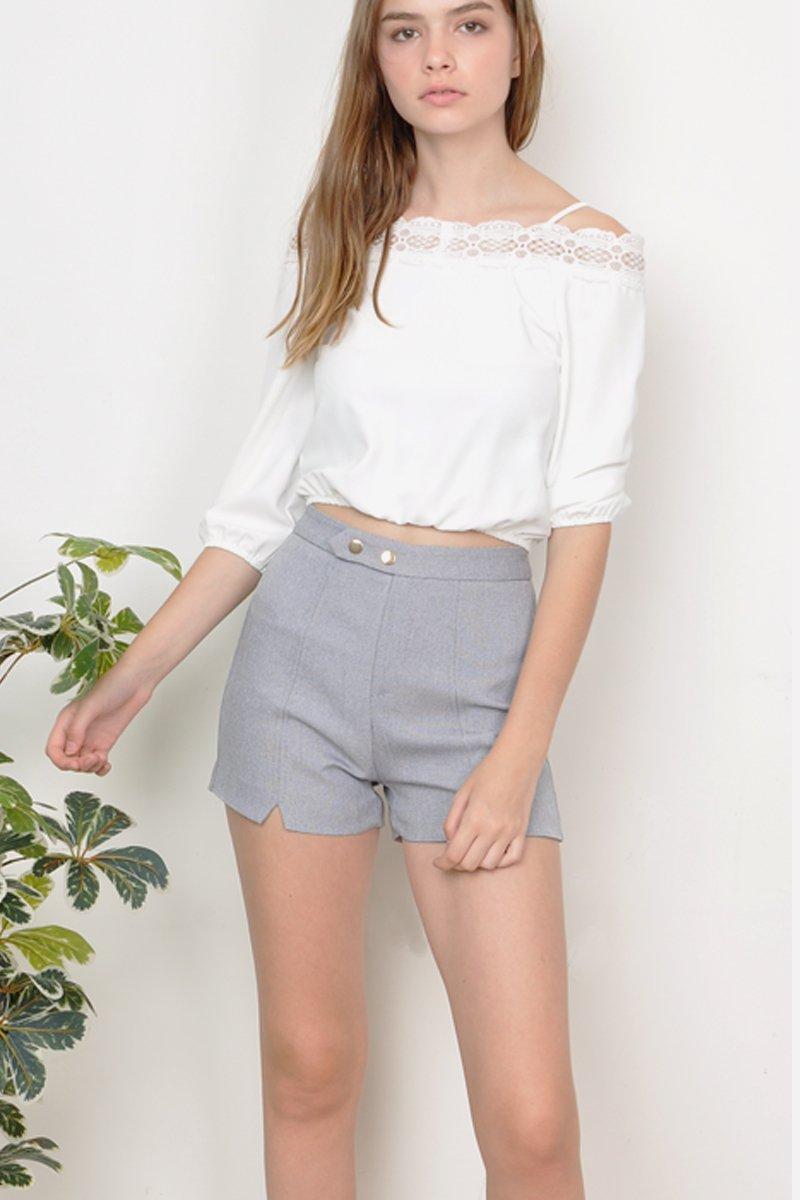 Valoris A-Line Cut Out Shorts Grey