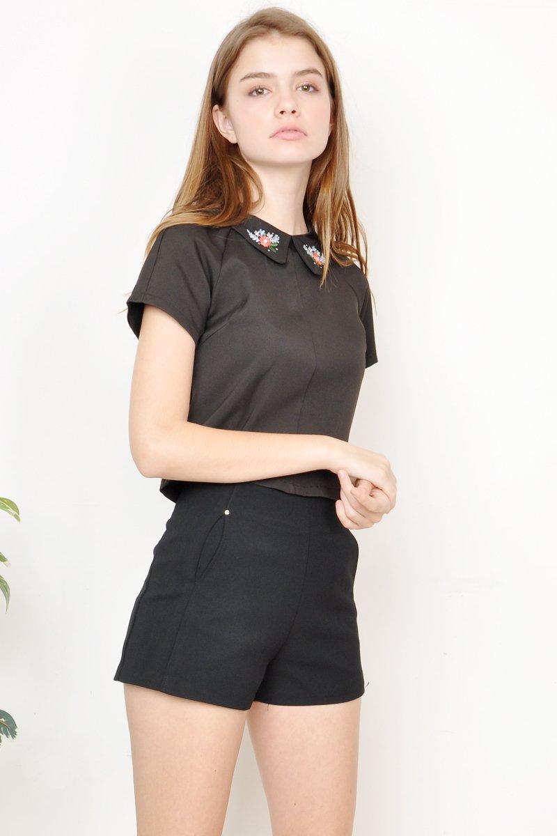 Aspen Embroidery Blouse Black