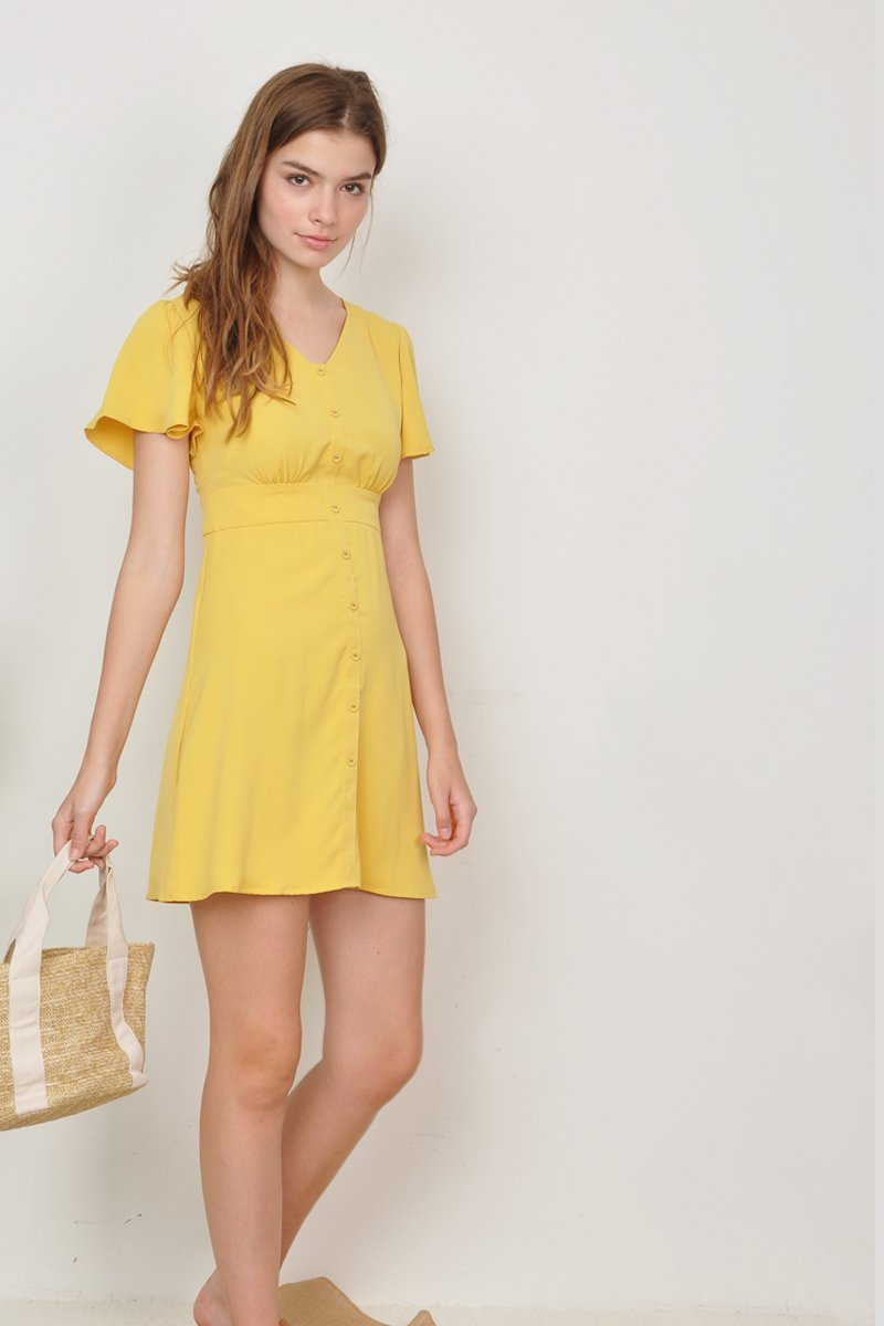 Enila Button Down Dress Sunshine