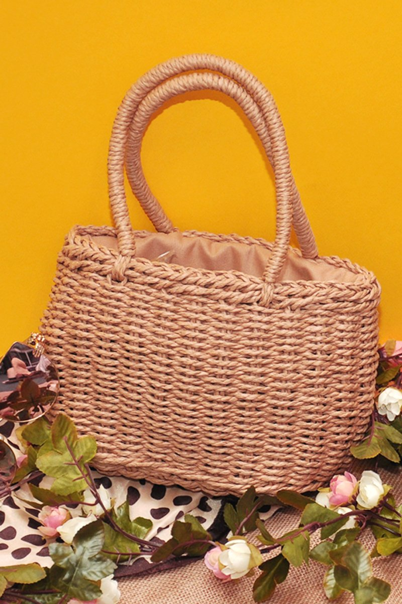 Catrice Mini Rattan Bag Caramel