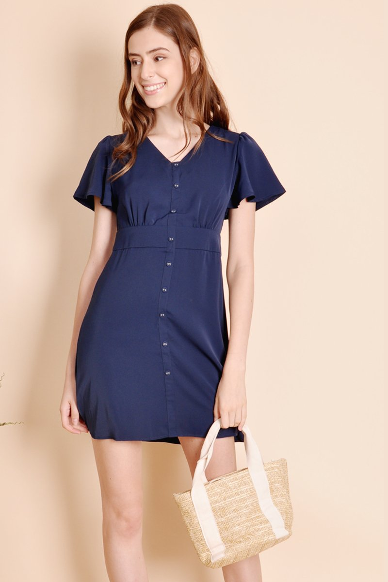 Enila Button Down Dress Midnight