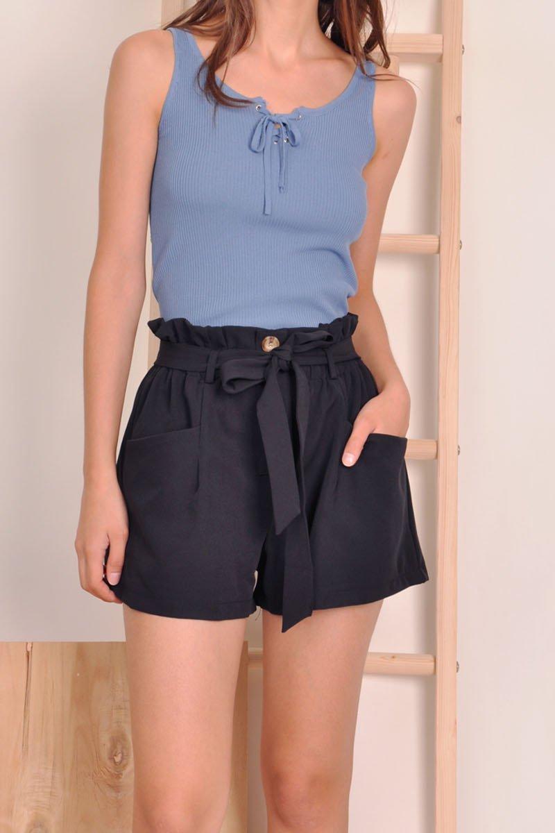 Tierney Paperbag Shorts Black