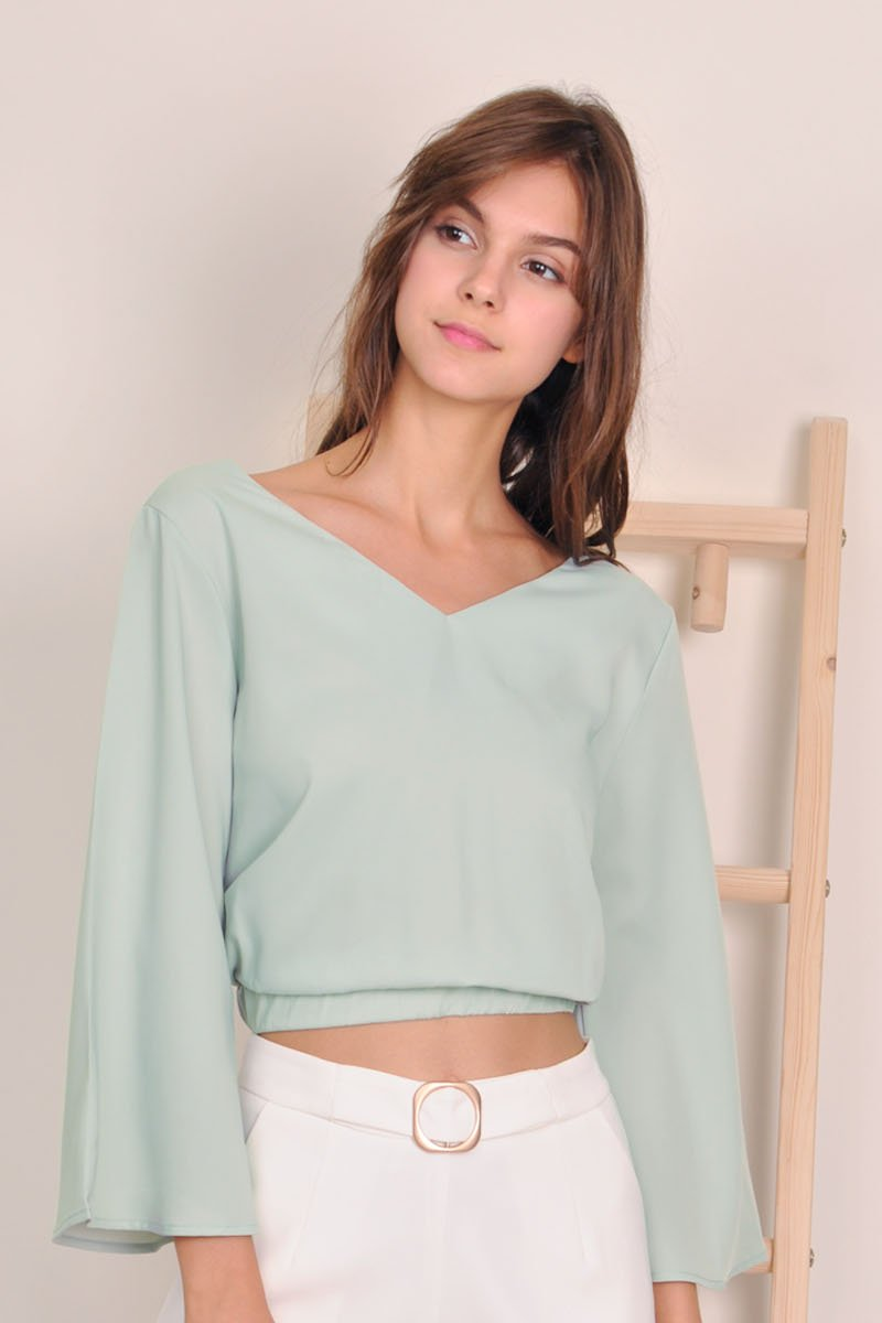 Benicia Tie Back Top Mint