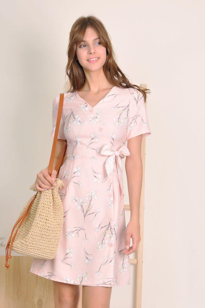 Willa Button Down Dress Blush
