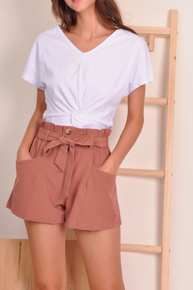 Tierney Paperbag Shorts Brick