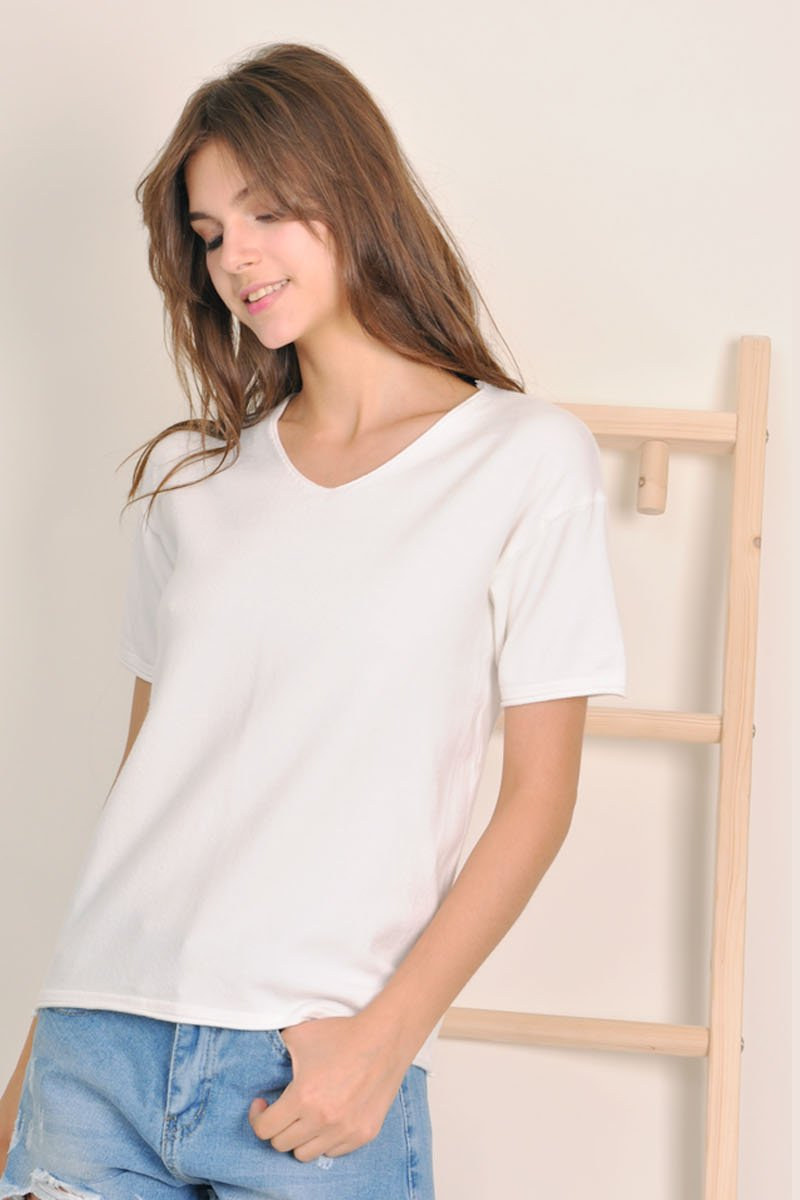 Antonia Soft Knit Top Ivory
