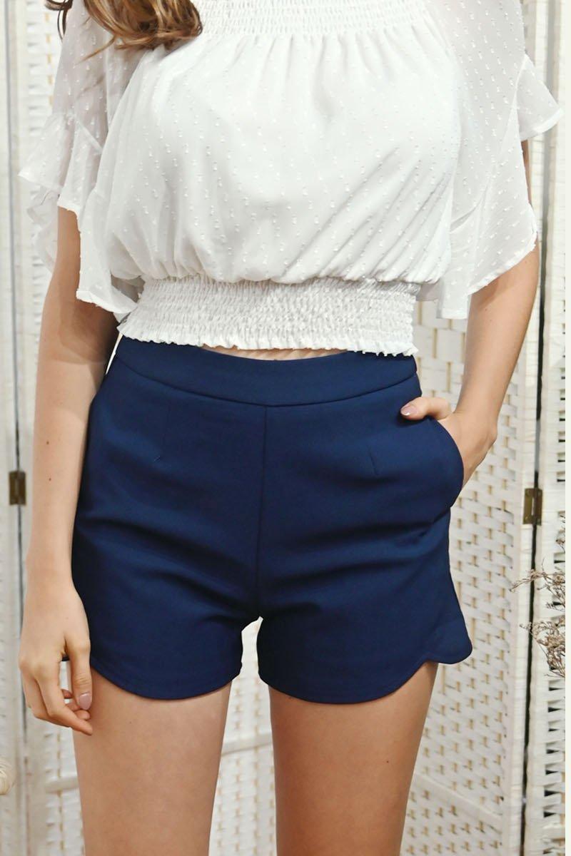 Catrine High-Waisted Shorts Midnight
