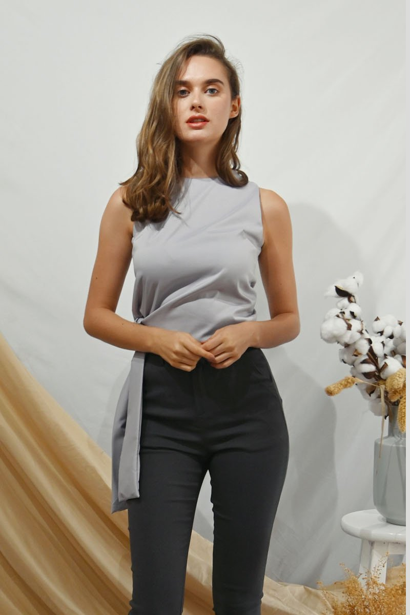 Teka Self-Tie Top Grey