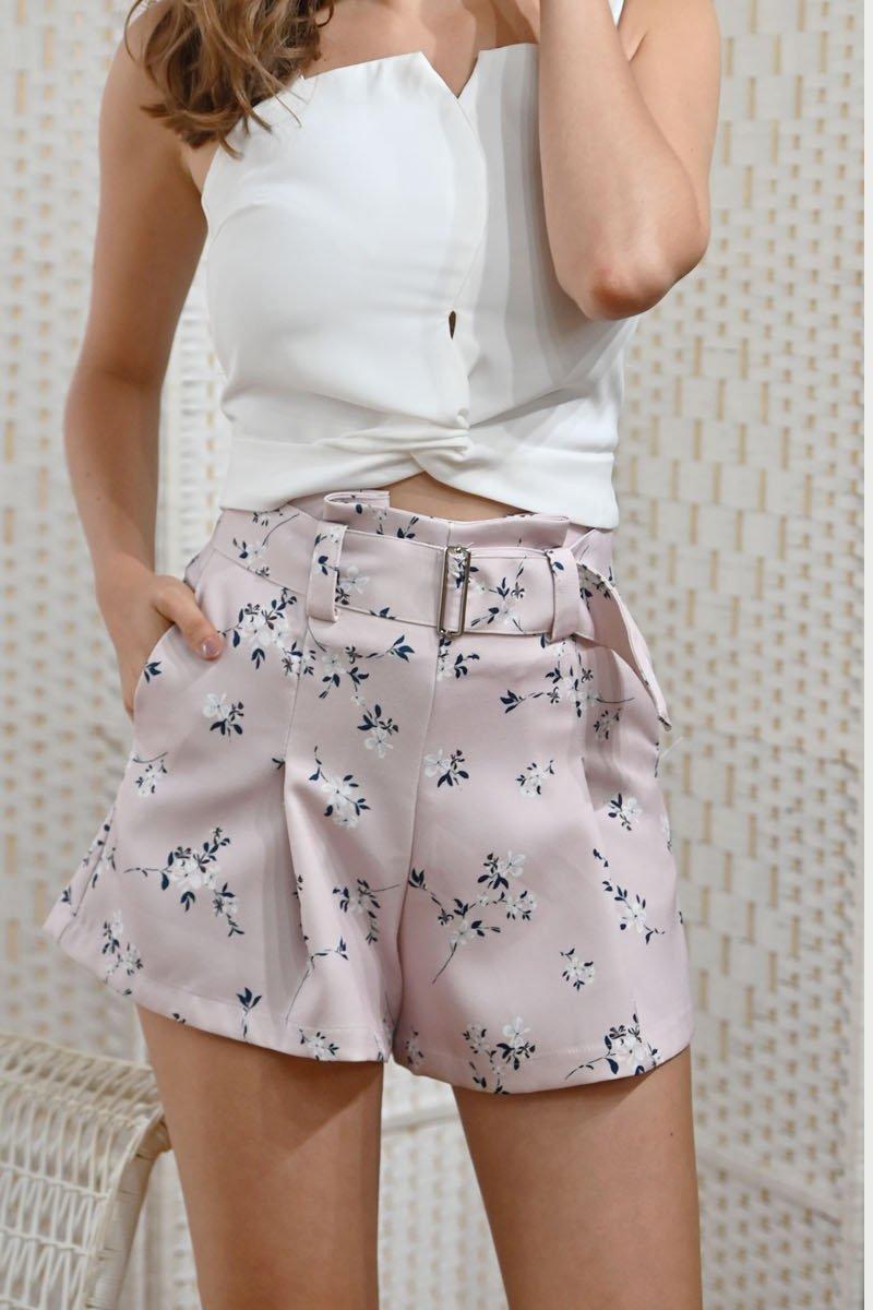 Iris Floral Shorts Blush