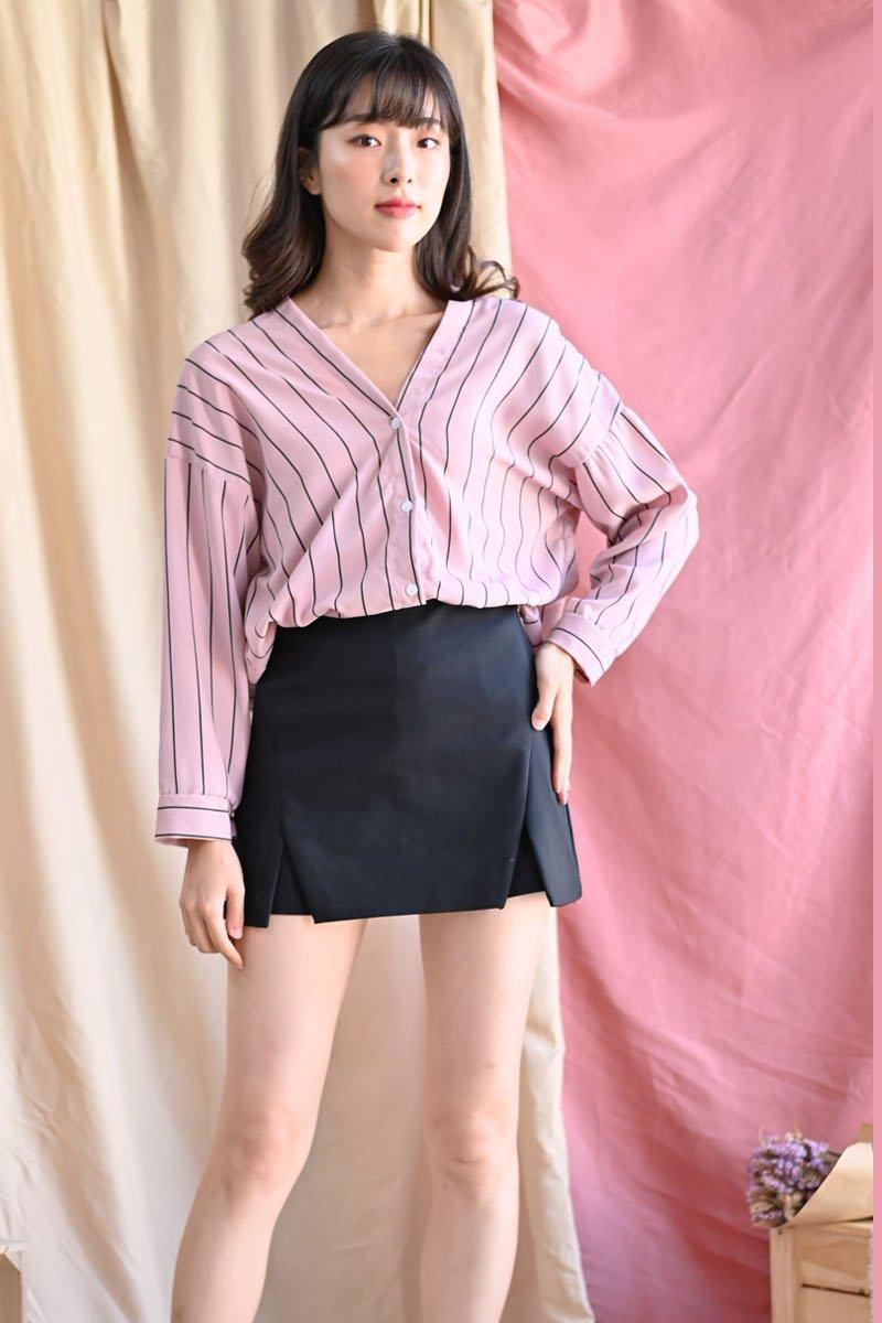 Jemima Stripe Shirt Blush