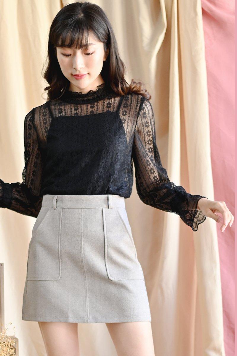Delja Pocket Skirt Taupe