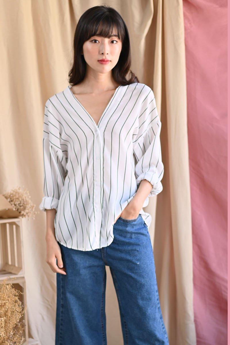 Jemima Stripe Shirt Ivory