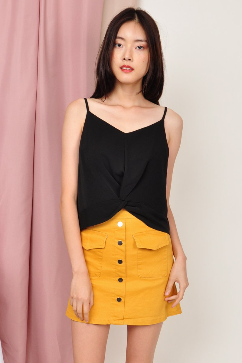 Gervasia Button Down Skirt Mustard