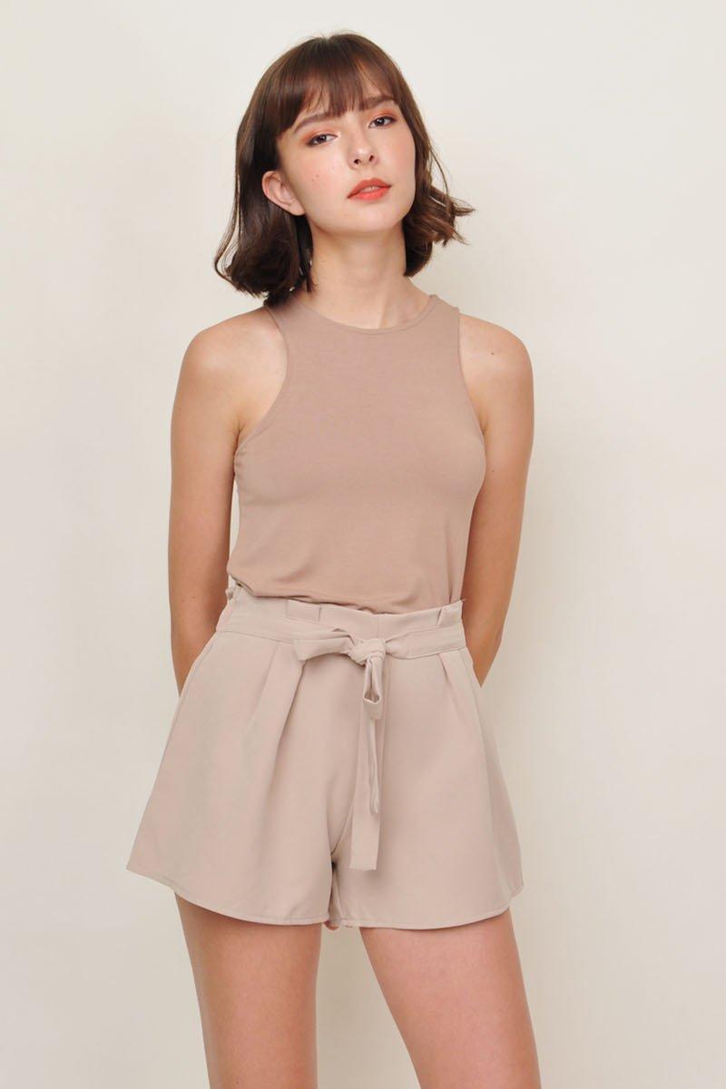 Minsie Paperbag Shorts Sand