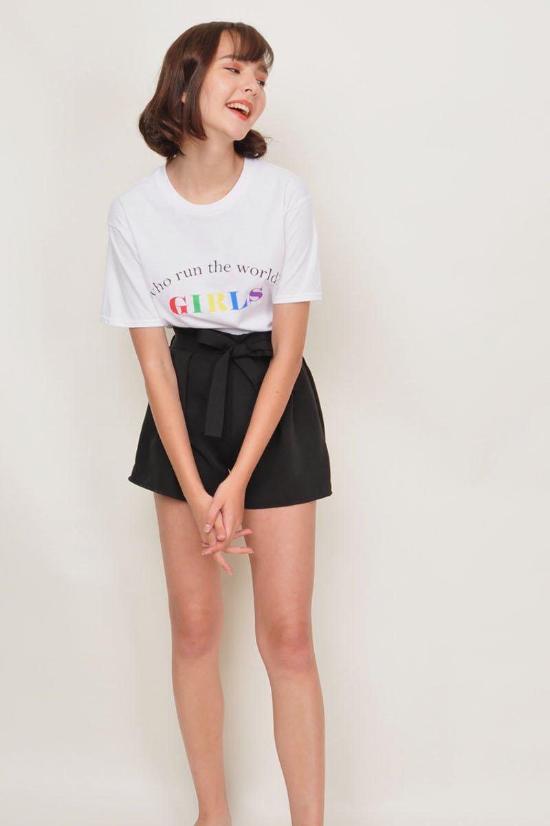 Minsie Paperbag Shorts Black