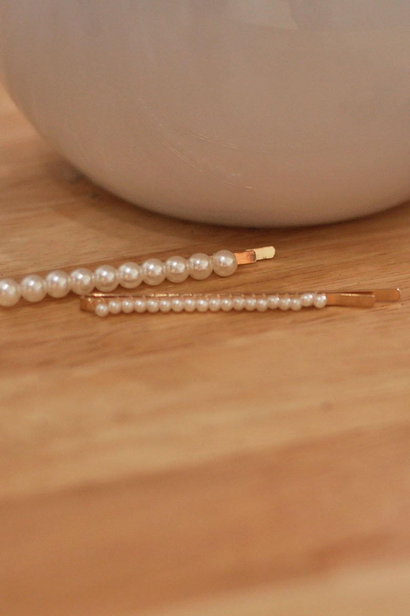 Cariss Duo Pearl Hairpin