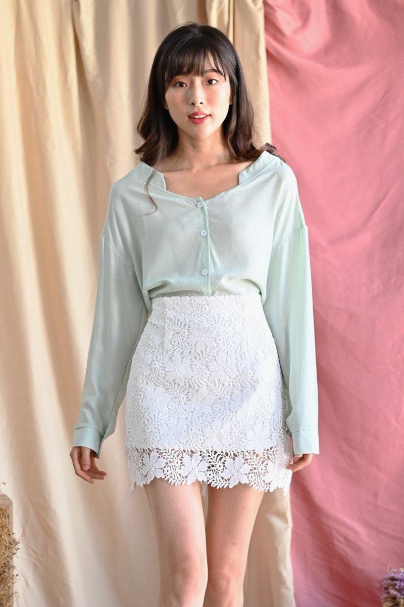 Olesya Crochet Lace Skirt Ivory