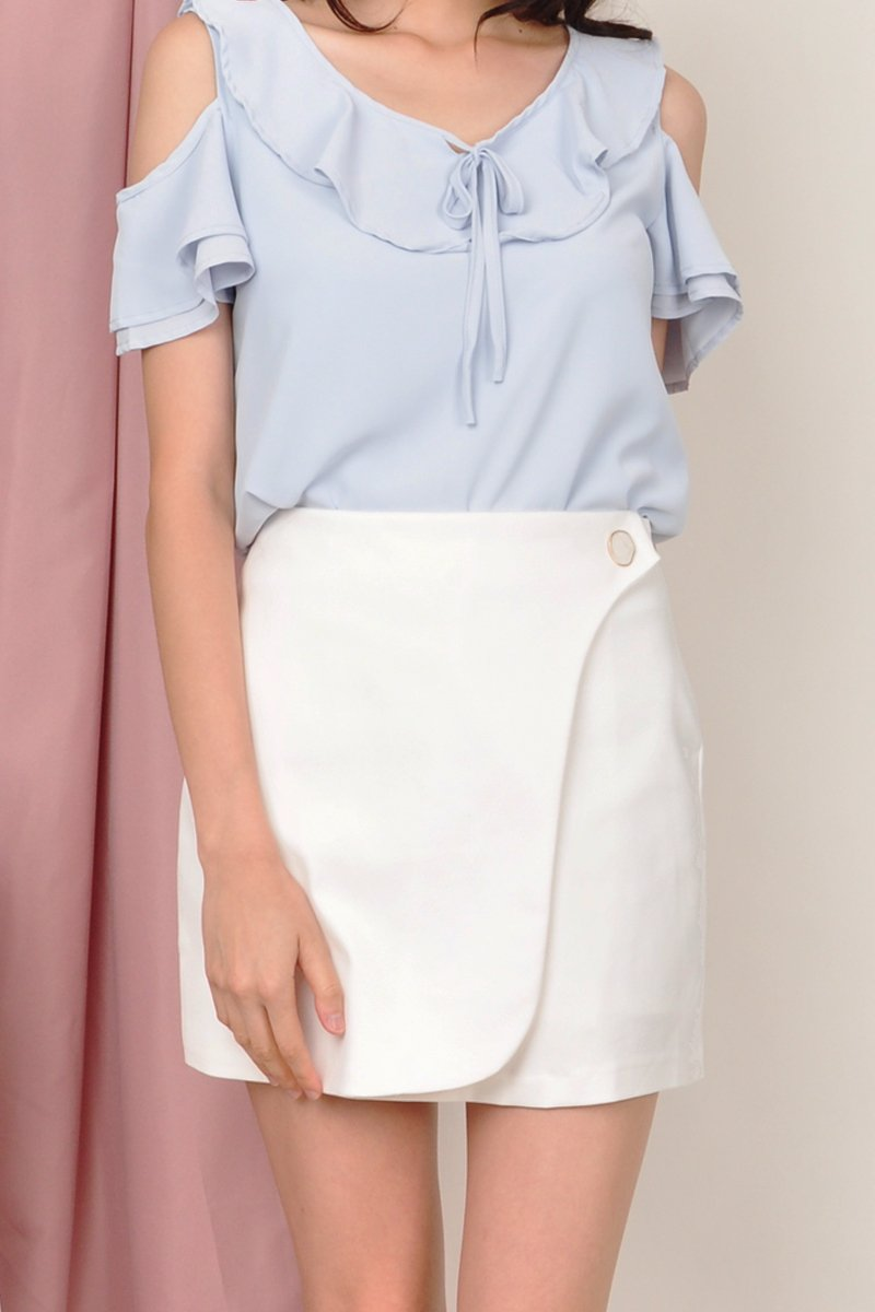 Makis Overlap Skirt Ivory