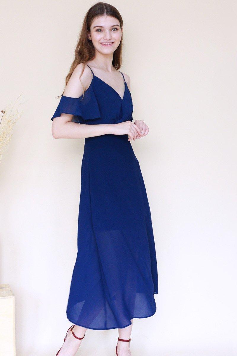 Cavette Cold-Shoulder Maxi Dress Midnight