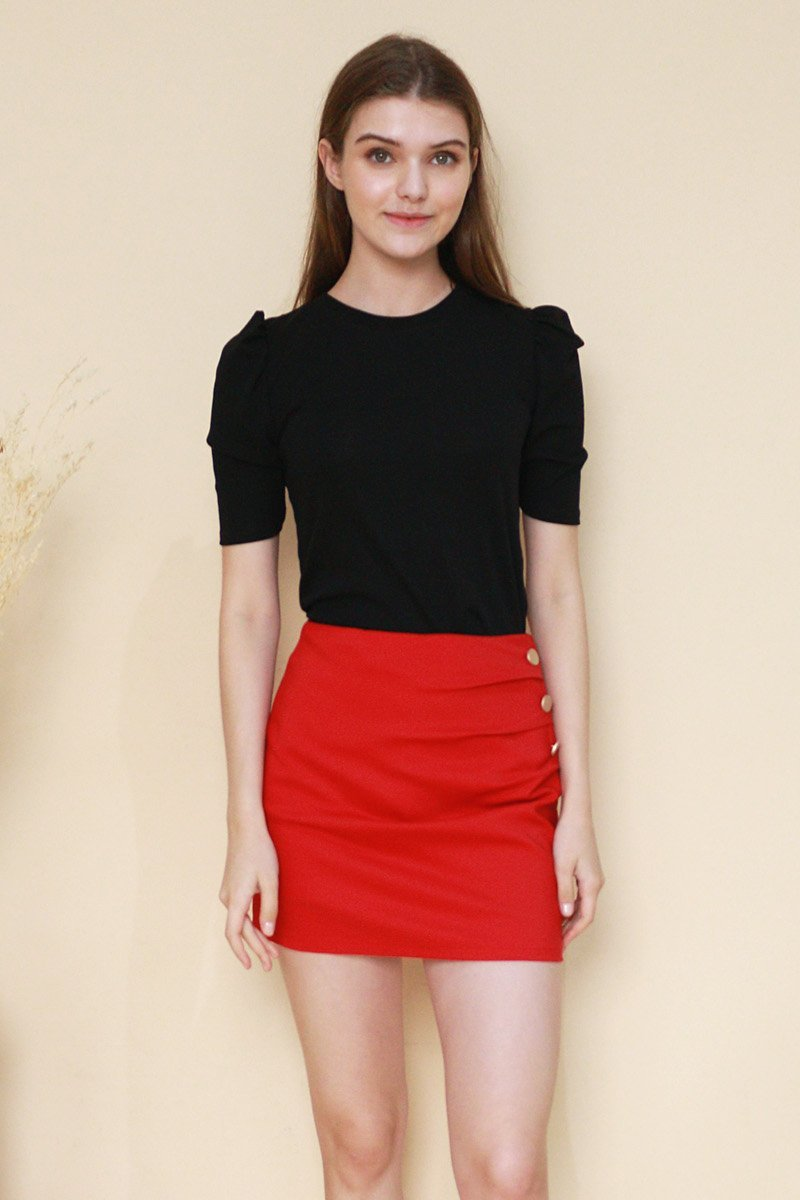 Drusilla Side Button Skort Scarlet