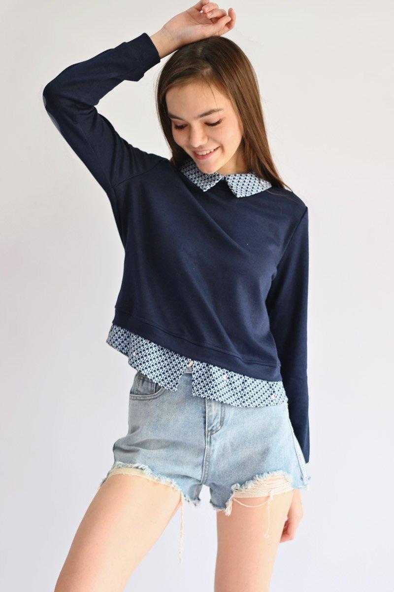 Hello Kitty Layer Sweater Top Midnight
