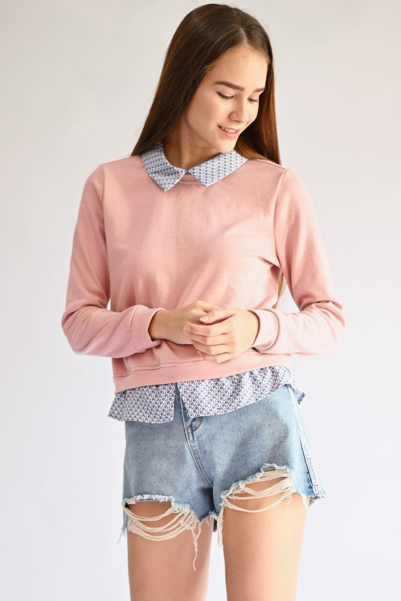 Hello Kitty Layer Sweater Top Blush