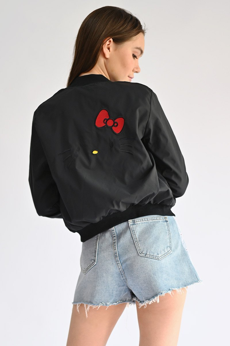 Hello Kitty Bomber Jacket Black
