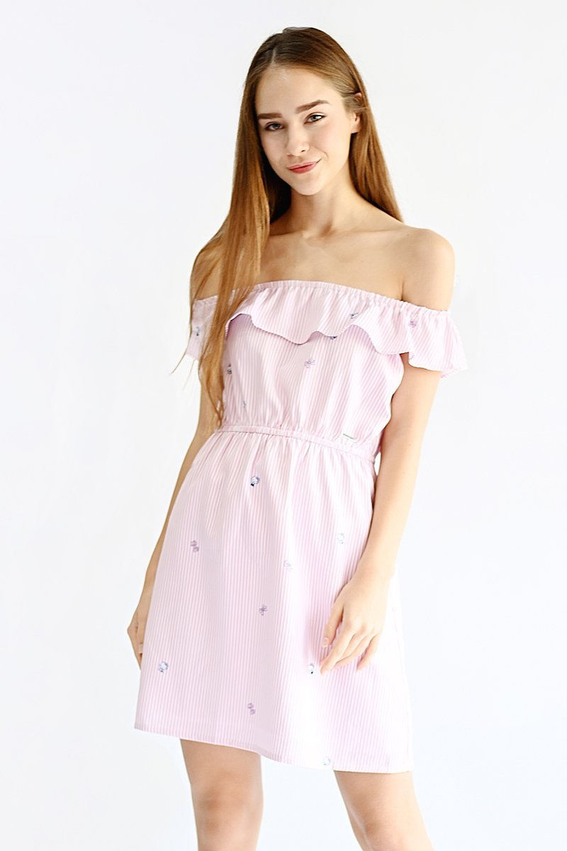 Hello Kitty Off-Shoulder Dress Blush