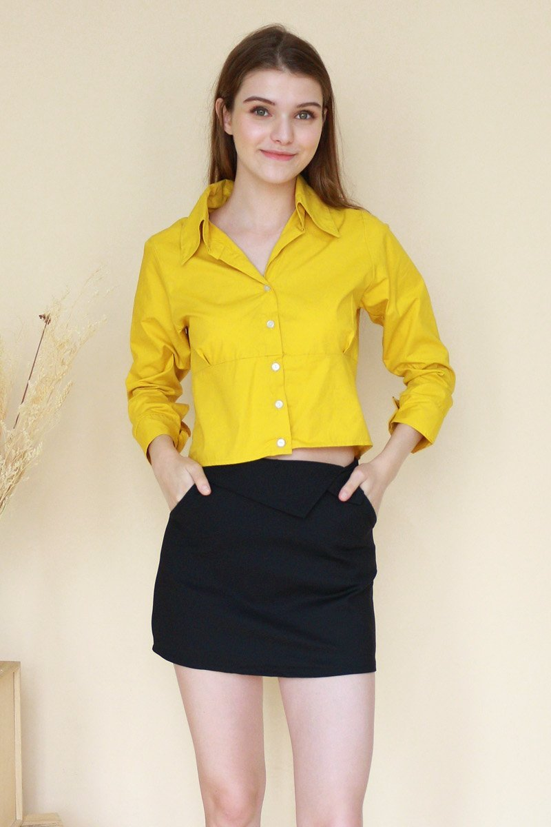 Radella Button Down Shirt Mustard