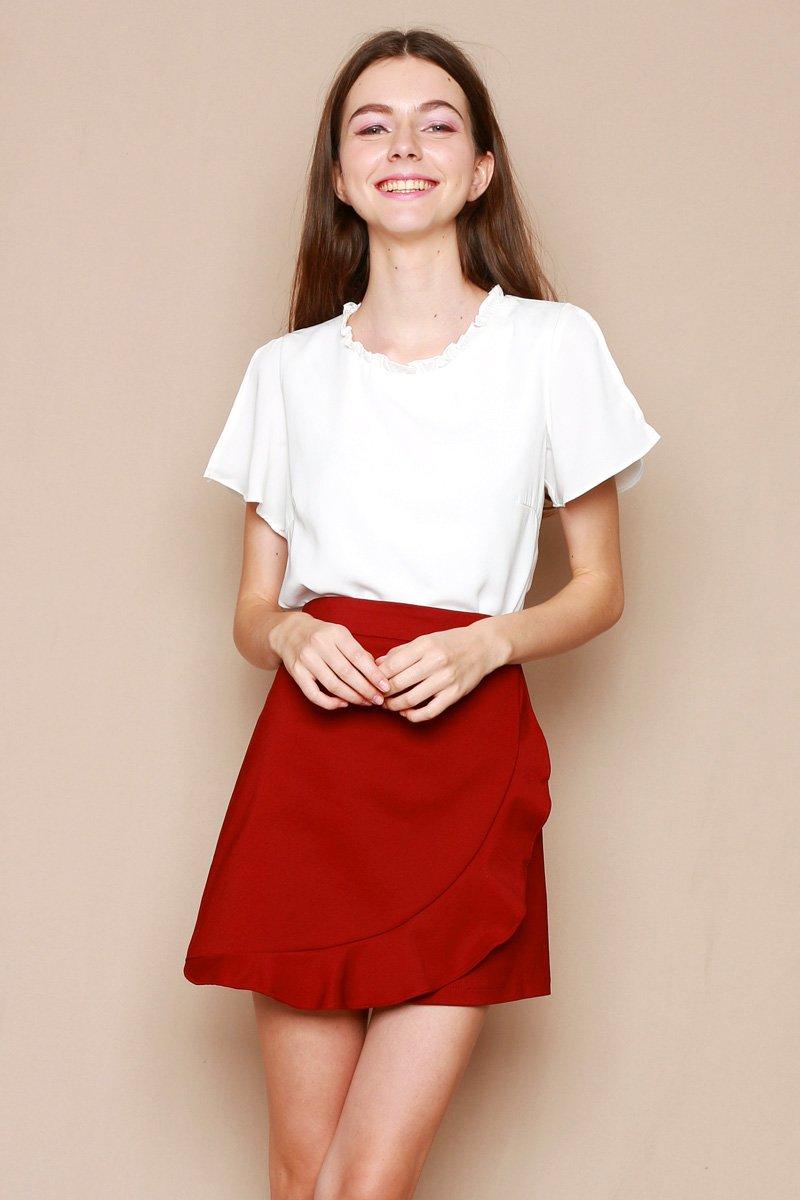 Carlota Slit Sleeve Top Ivory