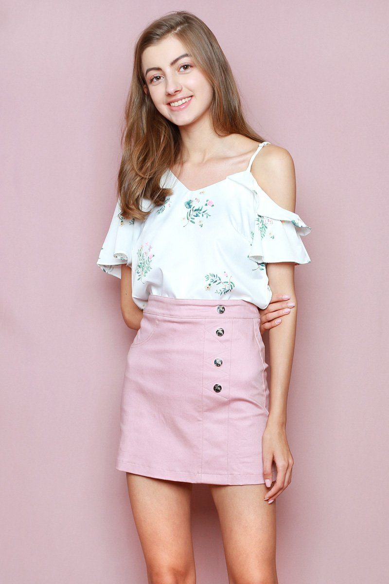 Hello Kitty Irregular Sleeves Top Ivory