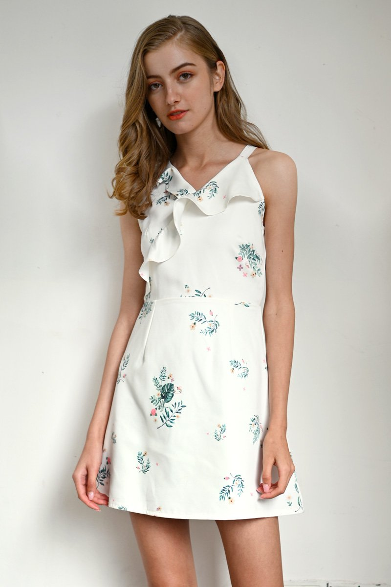 Hello Kitty Ruffle Trim Dress Ivory