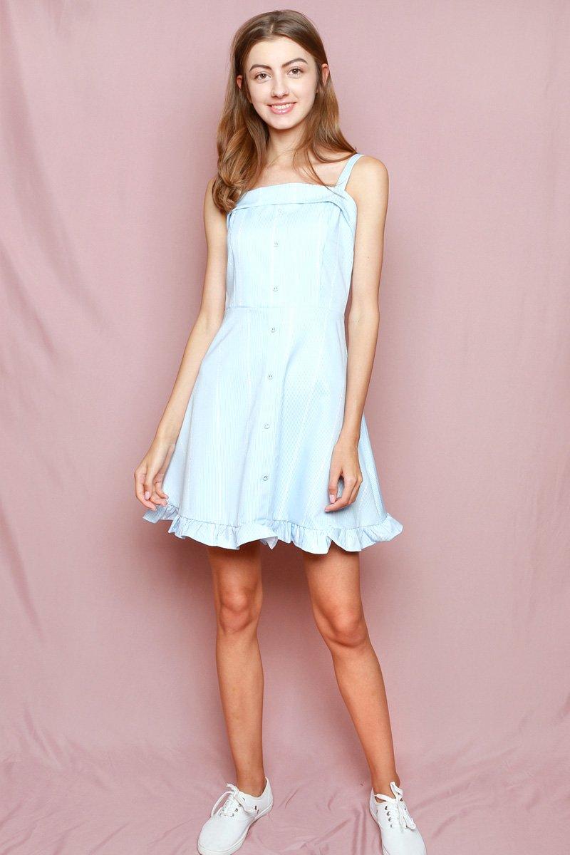 Hello Kitty Frill Hem Swing Dress Powder Blue