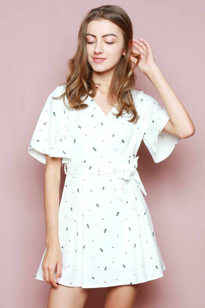 Hello Kitty Overlapped Dress Ivory