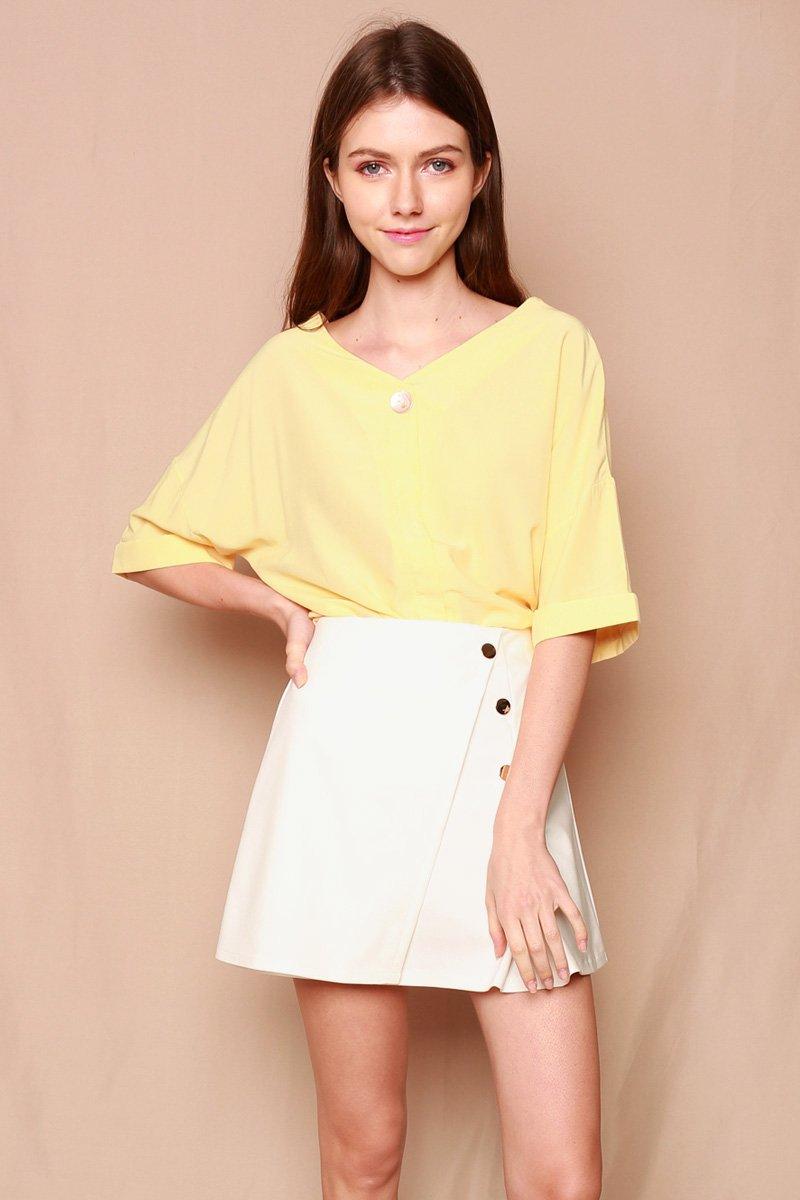 Elara Cross Back Shirt Daffodil