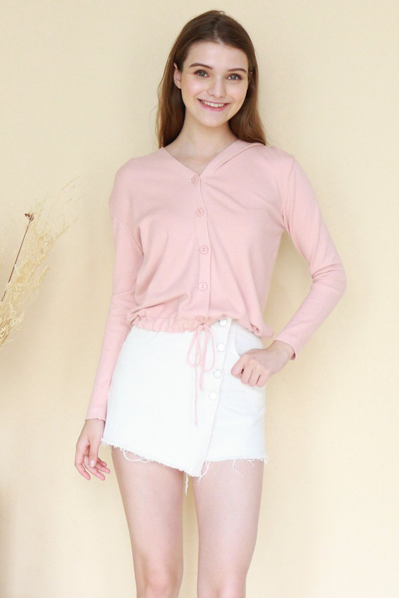 Aretha Knit Cardigan Blush