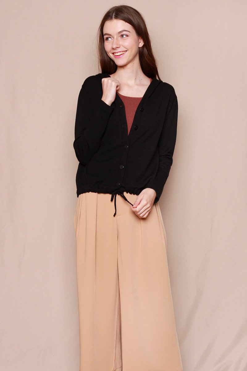Aretha Knit Cardigan Black