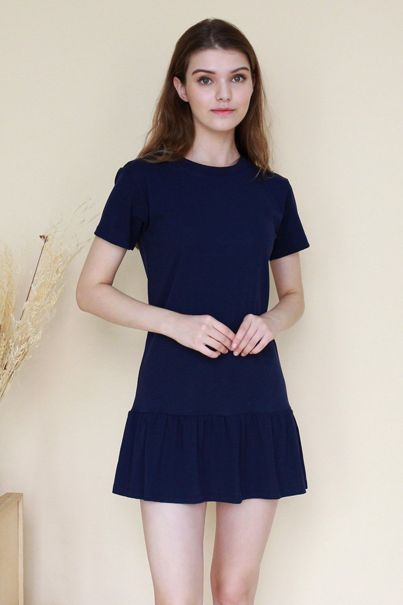 Yvaine Basic Drop Waist Dress Midnight