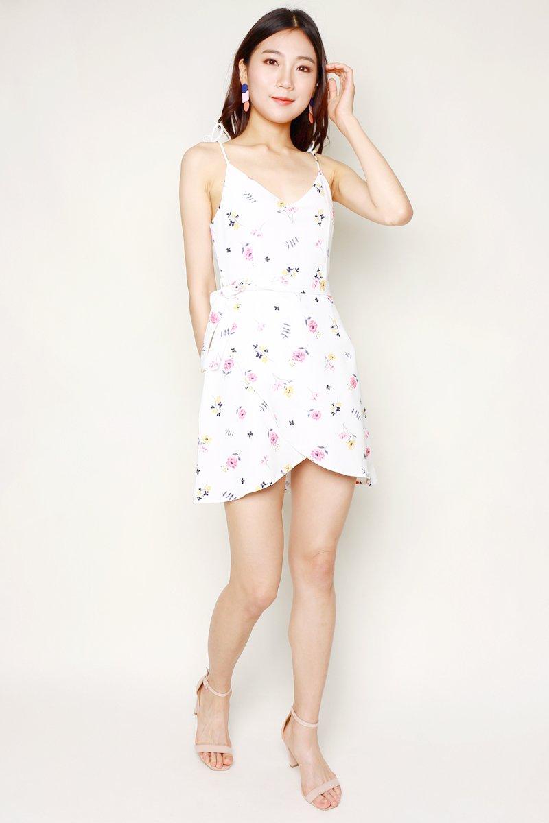 Glenys Cami Strap Overlap Dress Ivory