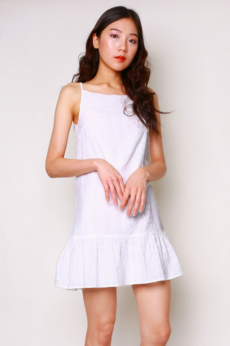 Savannah Eyelet Dress Ivory