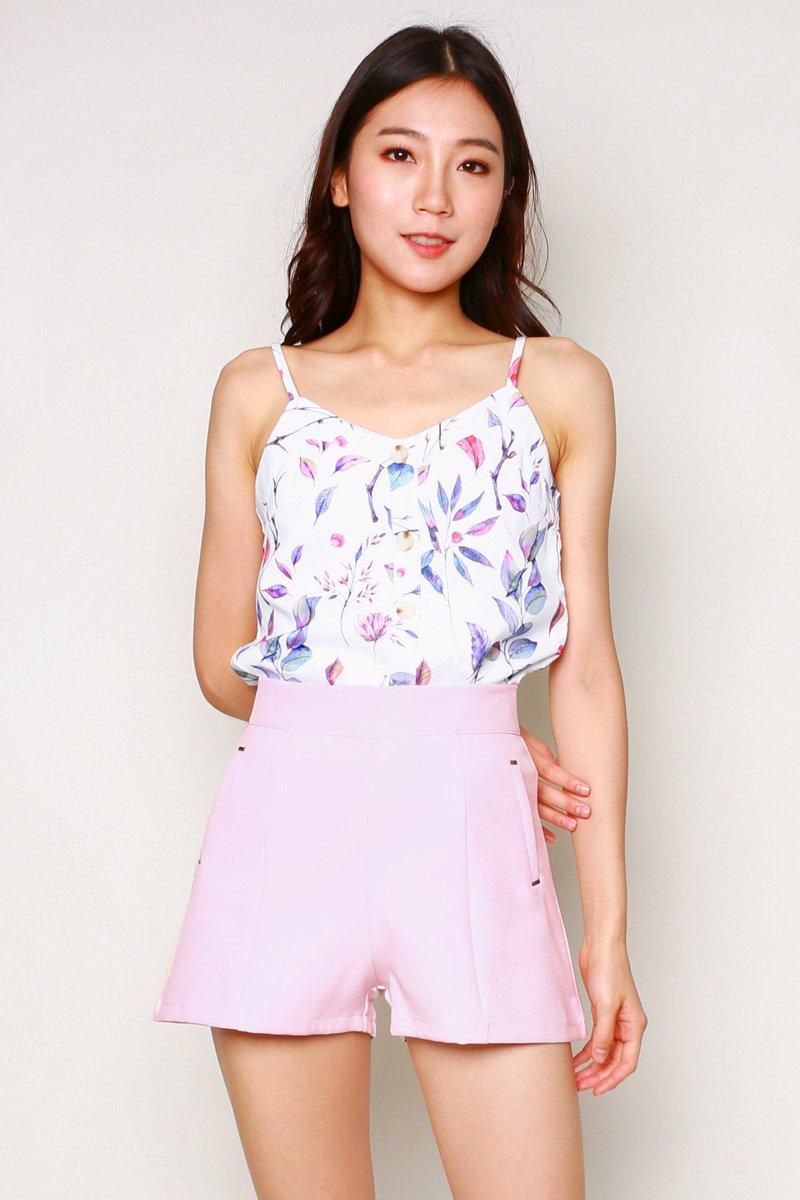 Bella Studded Shorts Blush