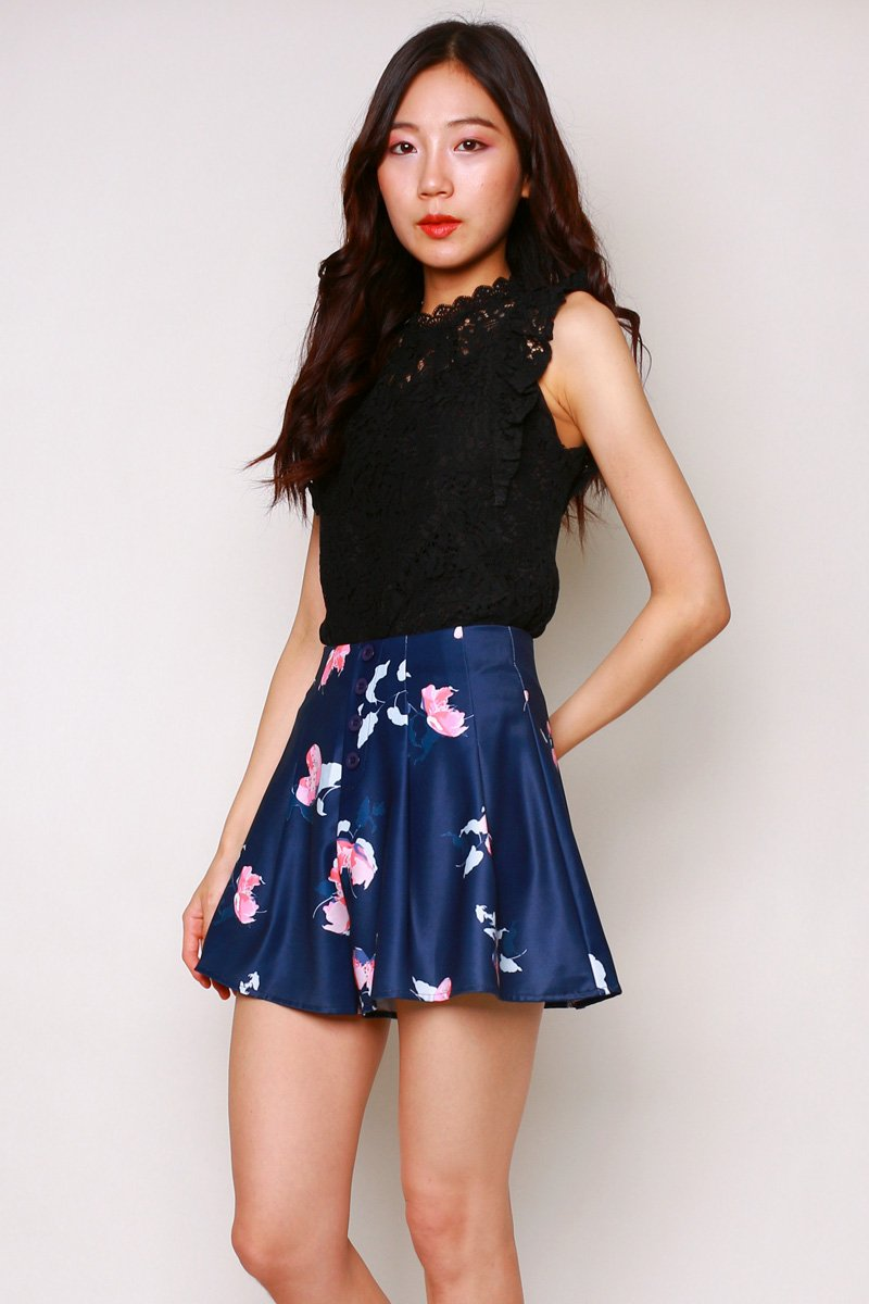 Palmer Floral Shorts Midnight