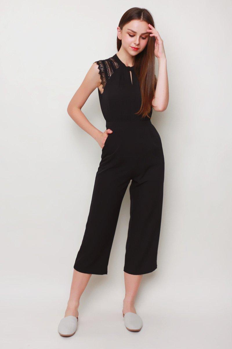 Octavia Keyhole Jumpsuit Black