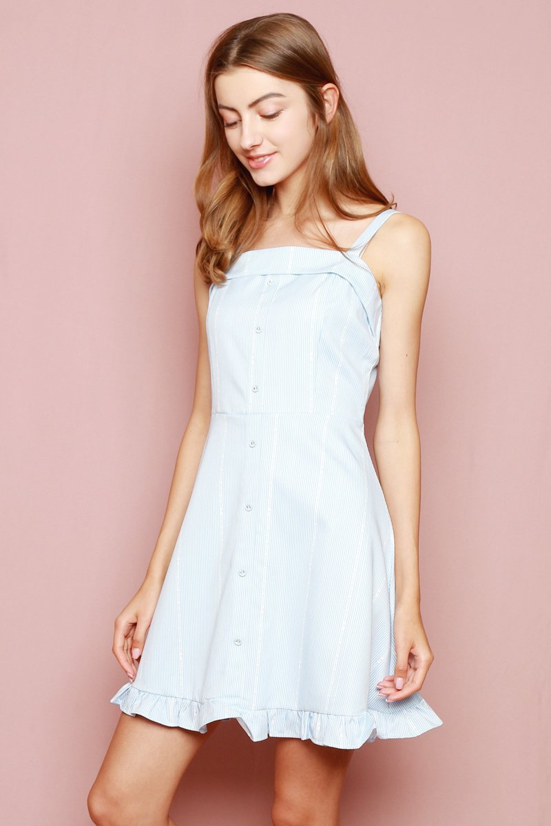 Hello Kitty Frill Hem Swing Dress Powder Blue