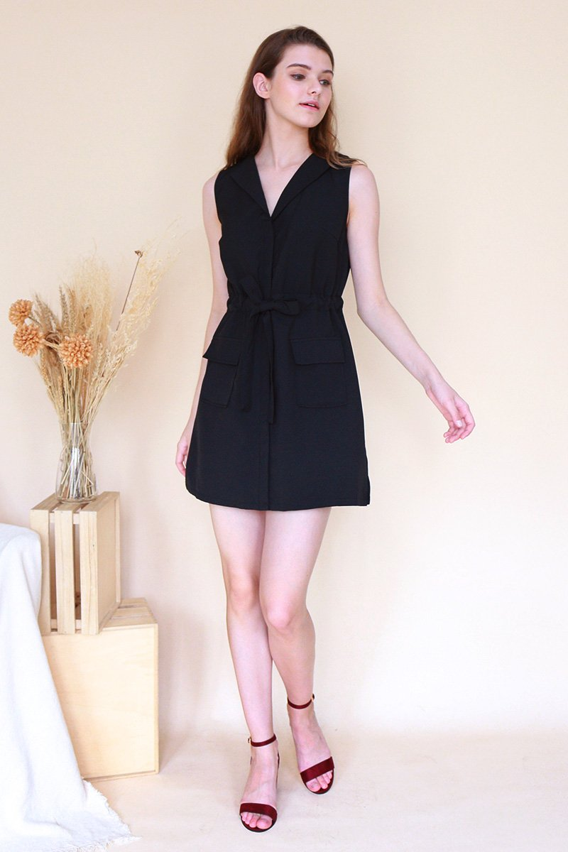 Dinah Trench Dress Black
